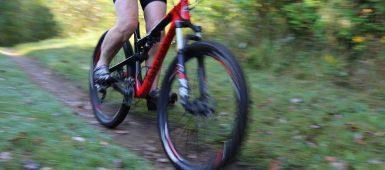 mountain biker at Albion Hills Conservation Park