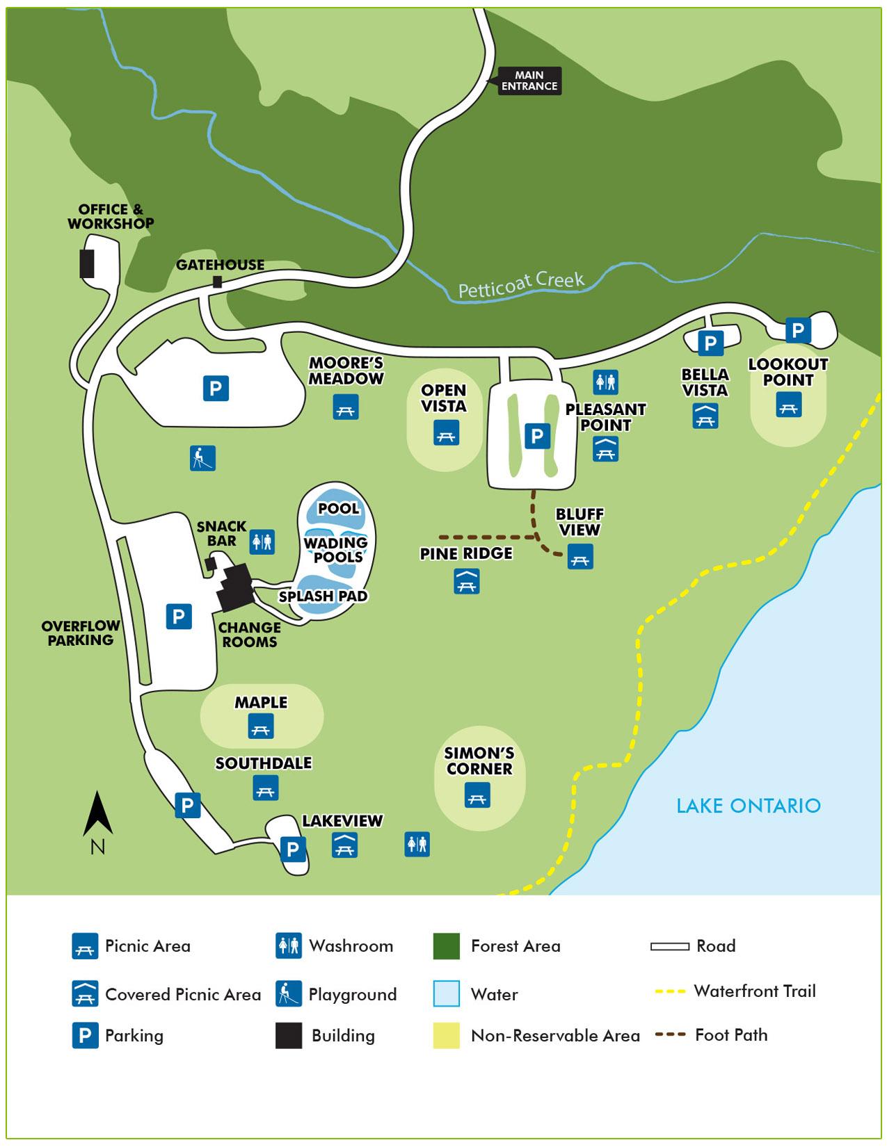 Petticoat conservation park wayfinding map
