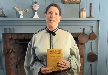 Black Creek Pioneer Village costumed educator delivers livestream presentation