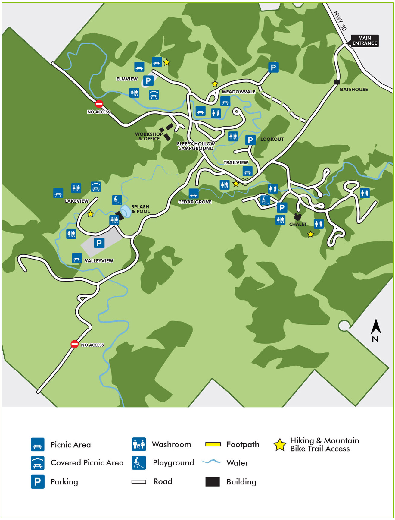 Albion hills conservation park wayfinding map