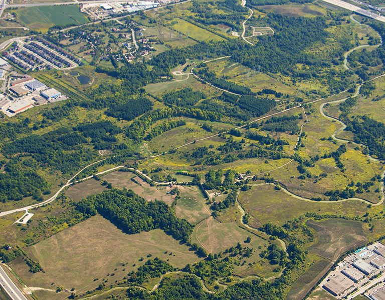 aerial view of Claireville Conservation Area
