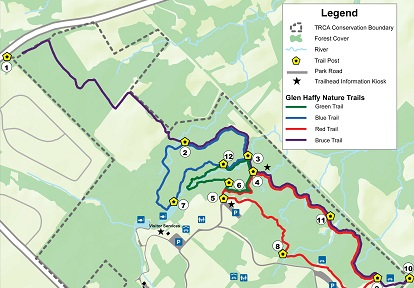 Glen Haffy Conservation Area trail map
