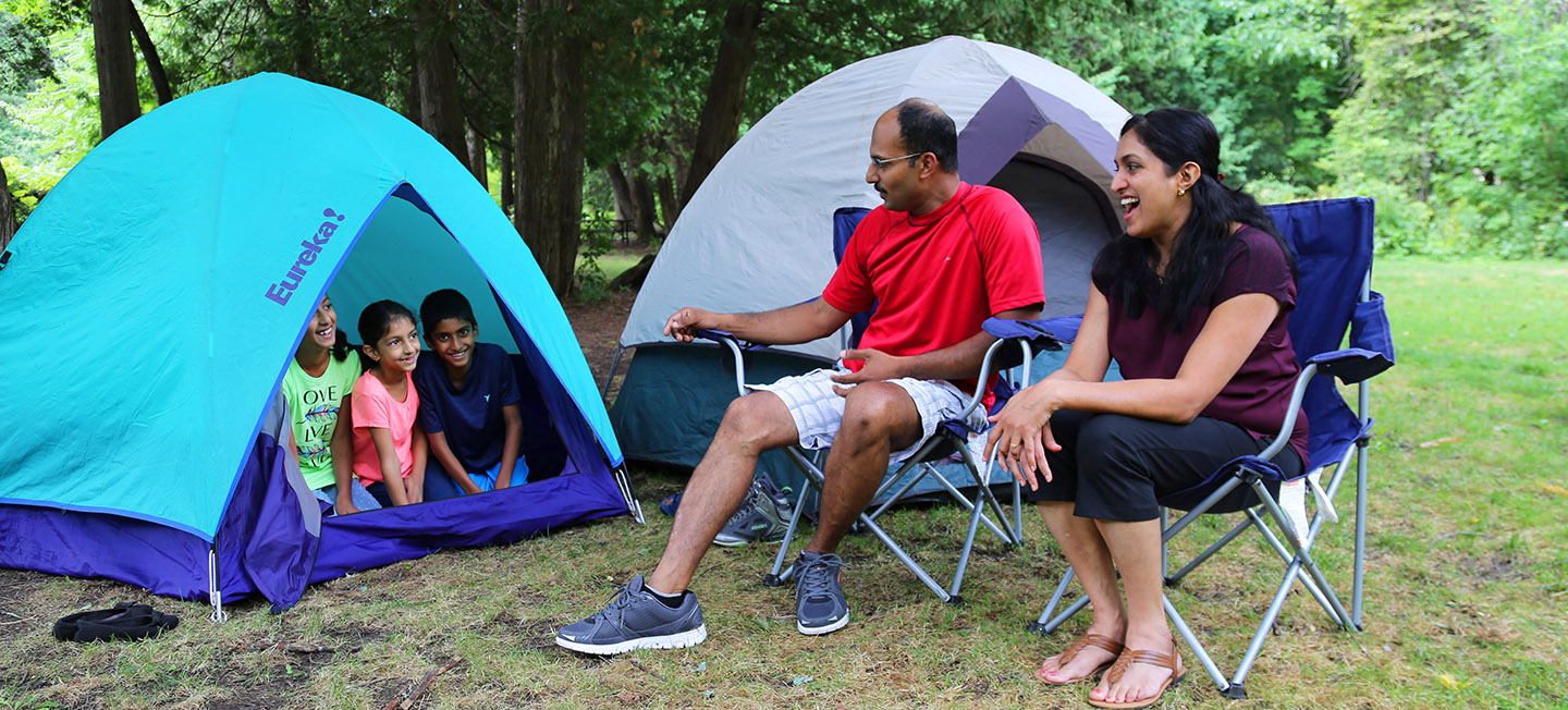 family camping at albion hills