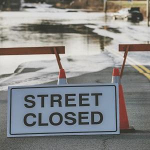 street closure sign