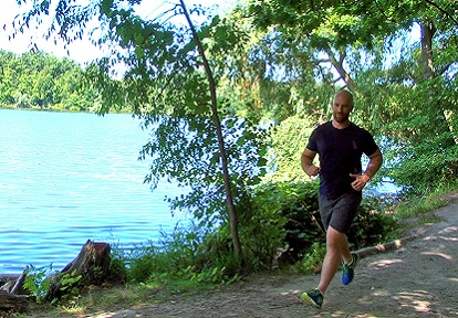 jogger on TRCA conservation area trail