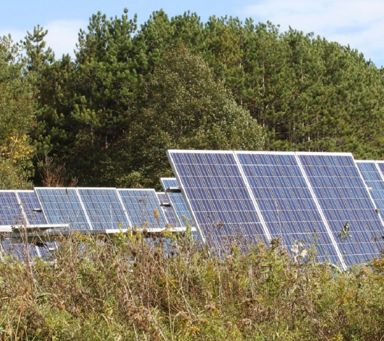 solar panels at Kortright Centre for Conservation