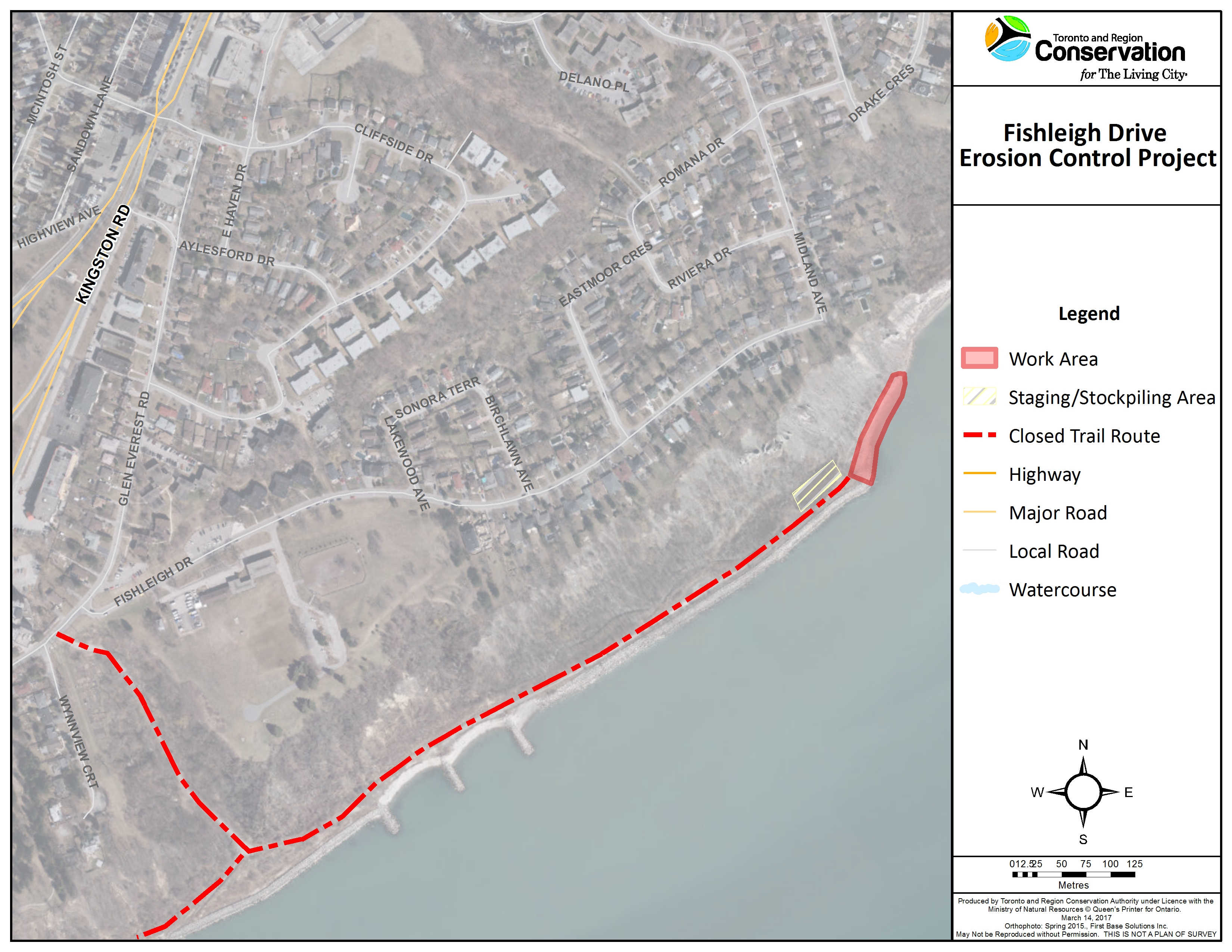 Fishleigh Drive Erosion Control Project map