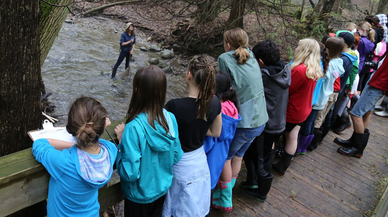 Students take part in a weekend program at Claremont Field Centre