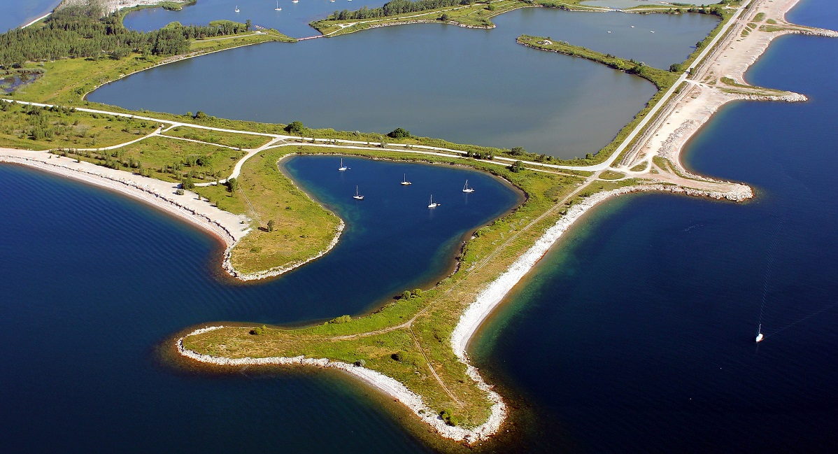 aerial view of Tommy Thompson Park