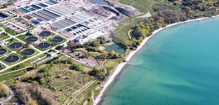 TRCA source water protection water treatment aerial view