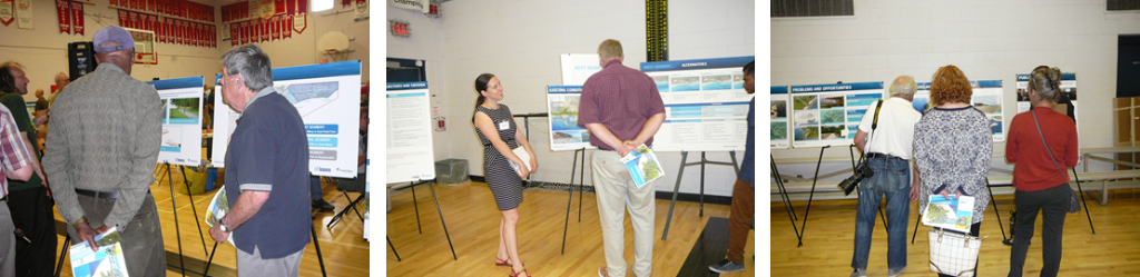 TRCA team members speak to local residents at Public Information Centre