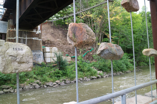 """High Water Mark"" Installation on the Don River"