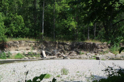 Erosion along Highland Creek