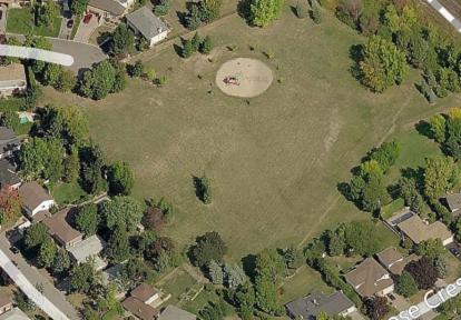aerial view of Glencrest Park