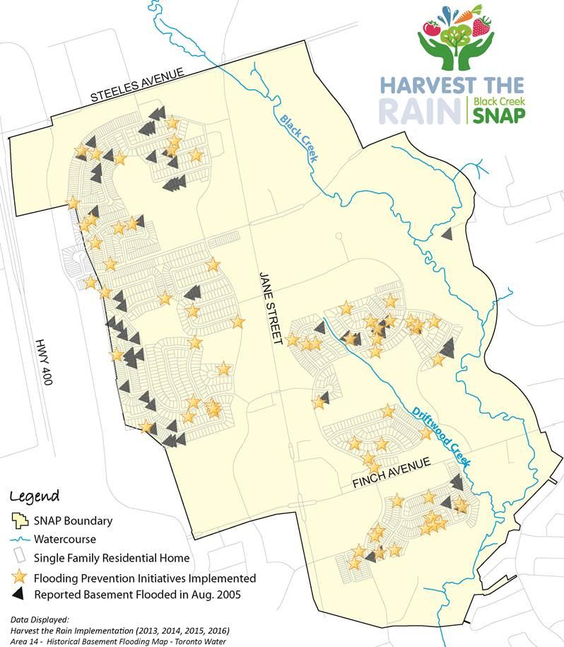 Harvest the Rain basement flooding protection map