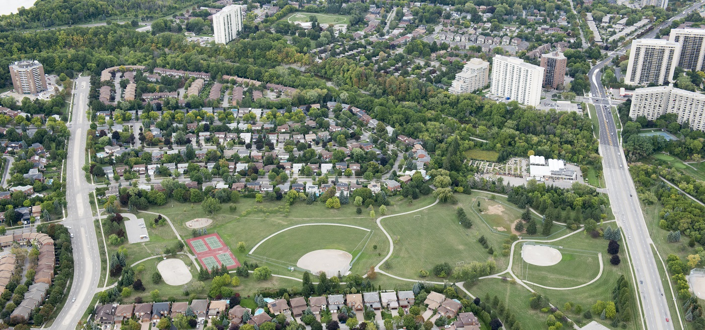 aerial view of Burnhamthorpe SNAP neighbourhood