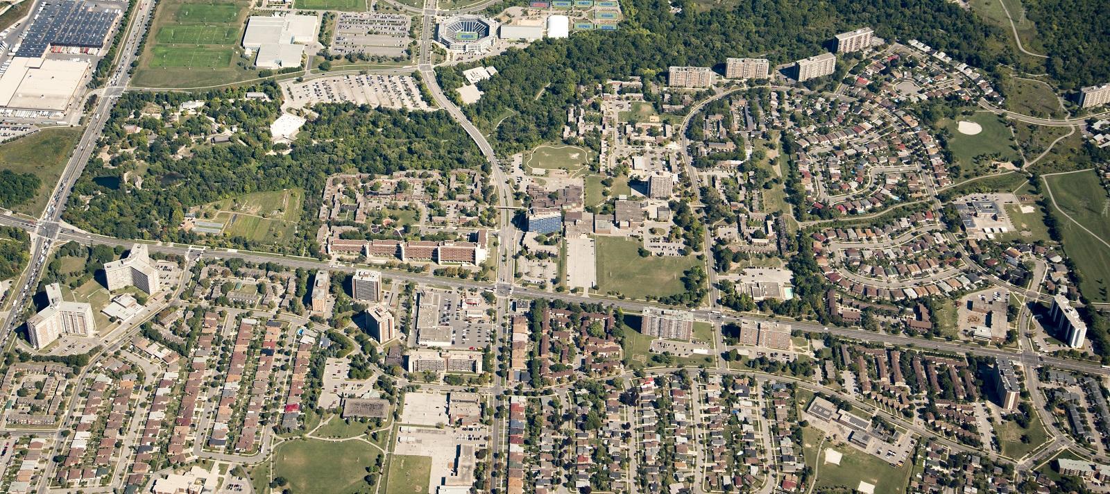 aerial view of Black Creek SNAP neighbourhood