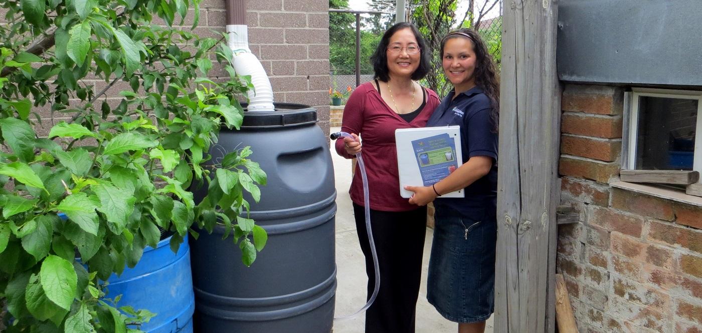 Black Creek neighbourhood resident takes part in the SNAP Harvest the Rain program