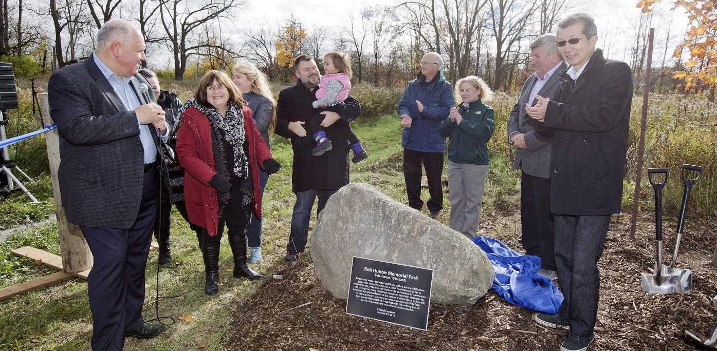 Opening ceremony for Bob Hunter Memorial Park