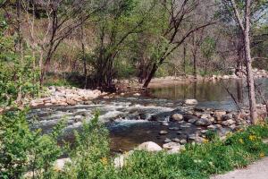 River flowing over rocks