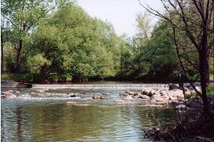 River flowing over wier