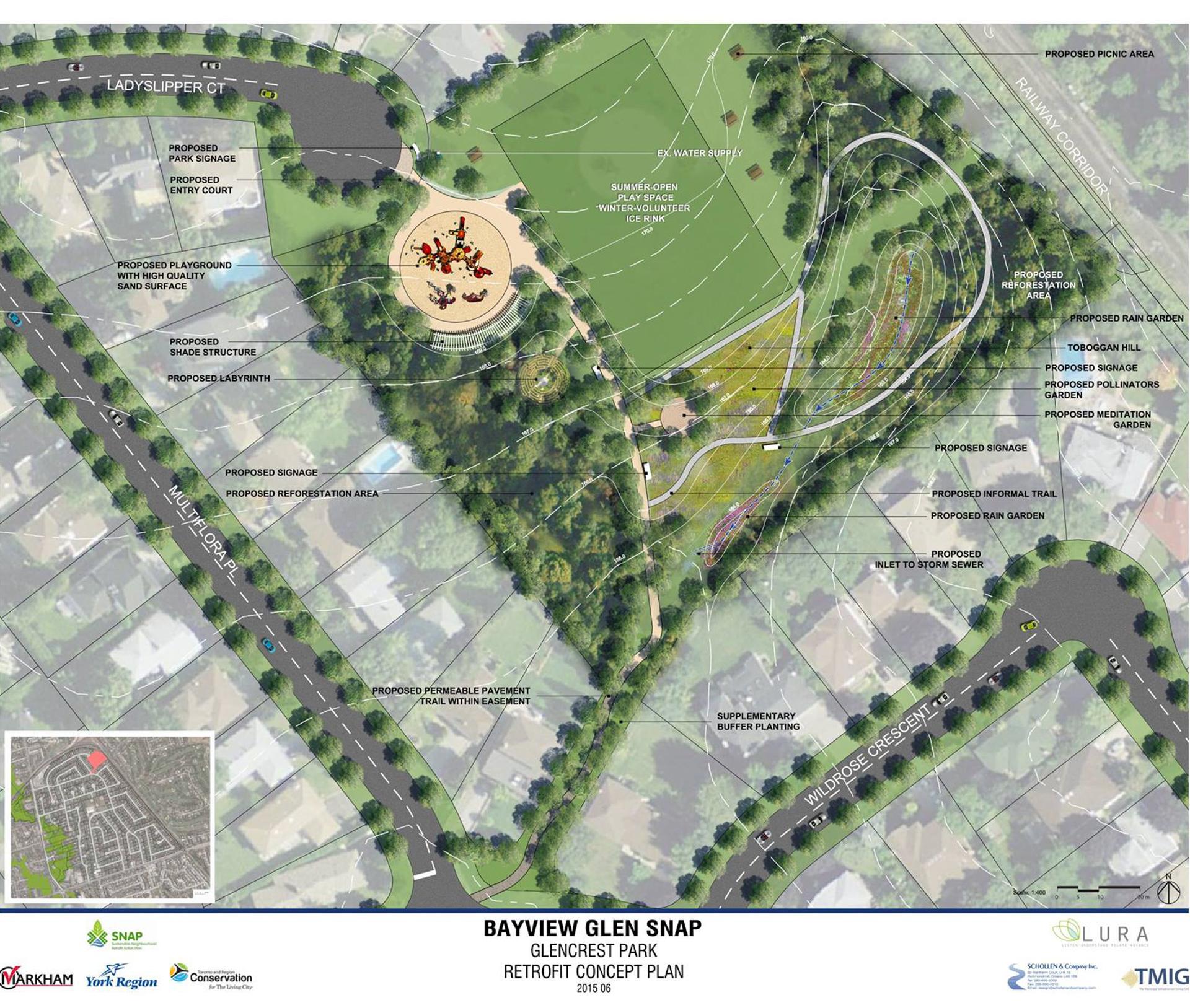 Glencrest Park rendering