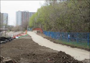New West Deane Park trail at Site 1.