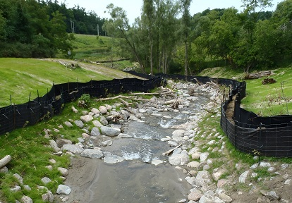 TRCA restoration project in local stream