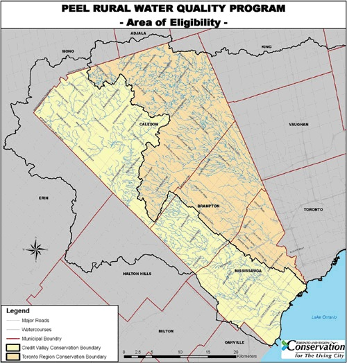 Peel Rural Water Quality program area of eligibility map