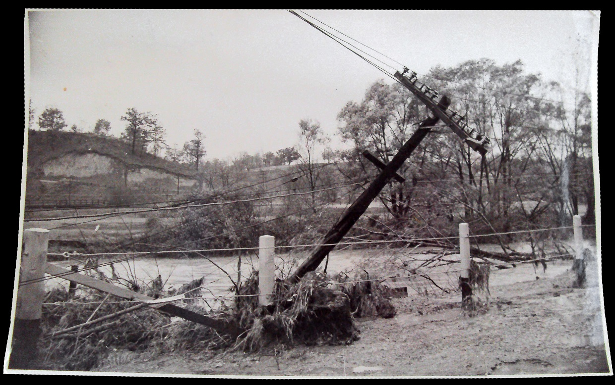 archival photograph of damage caused by Hurricane Hazel
