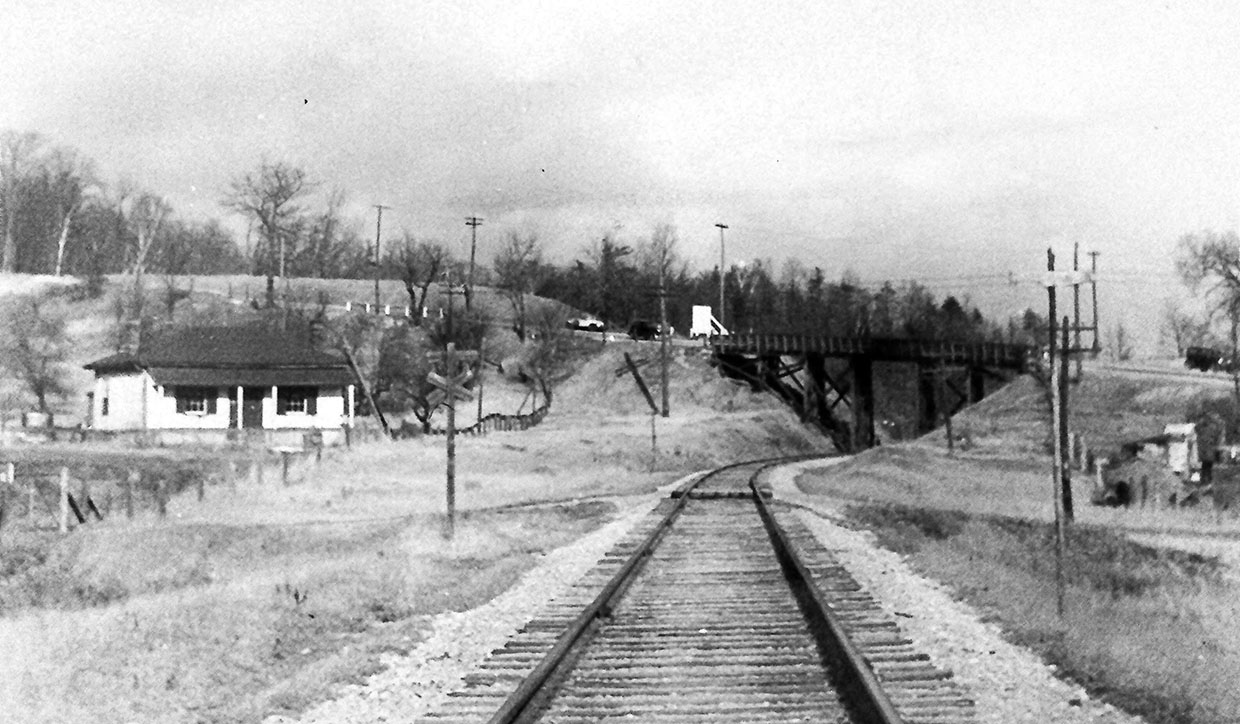 archival photograph of railway through the Don Valley
