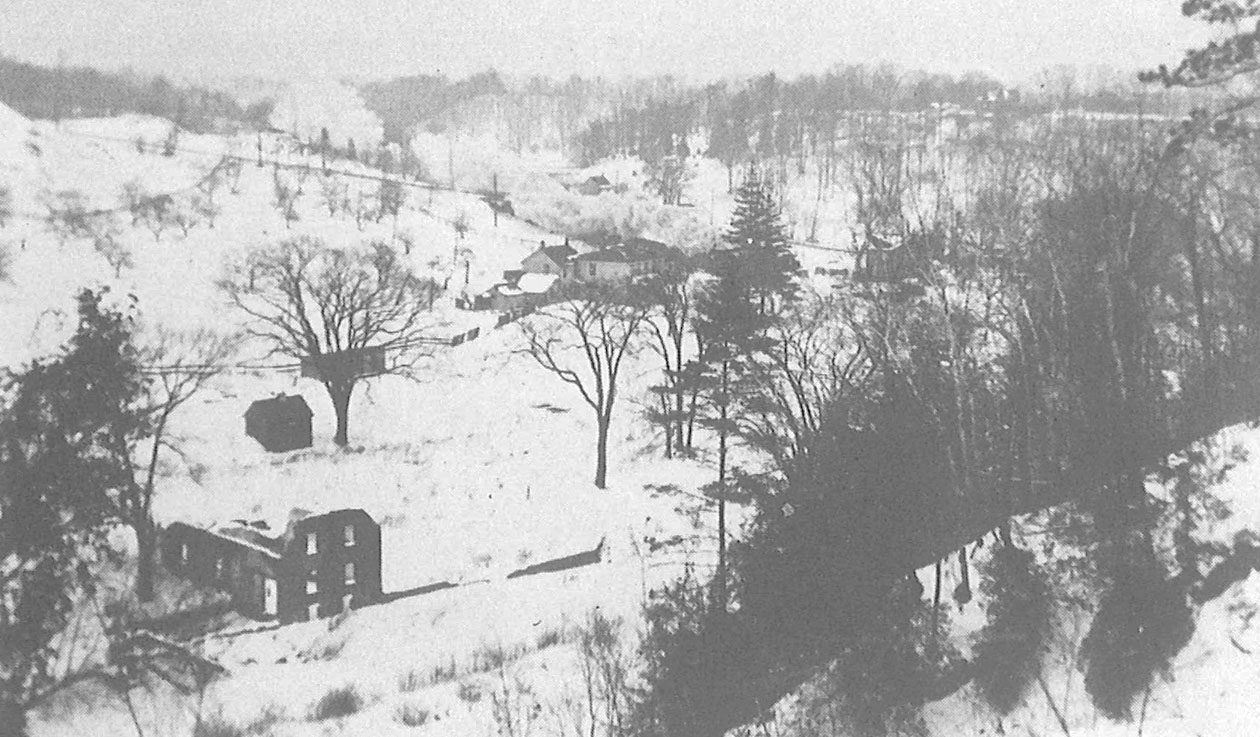 archival photograph of remnants of the Upper Mill at the Forks of the Don