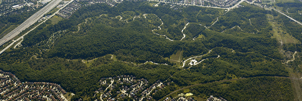 aerial view of Rouge National Urban Park