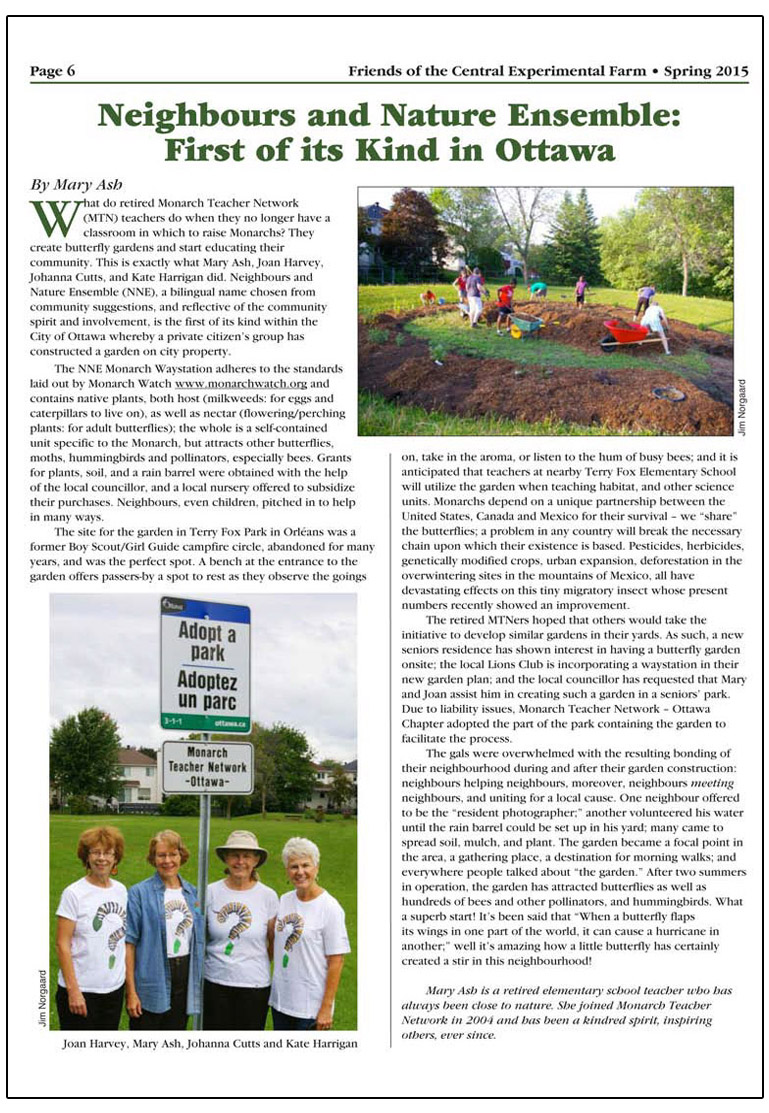 neighbours and nature article