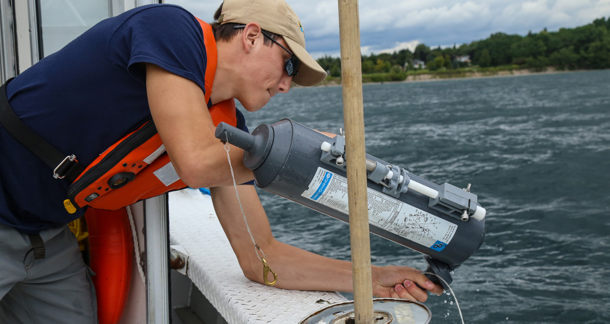 TRCA staff member monitors water quality