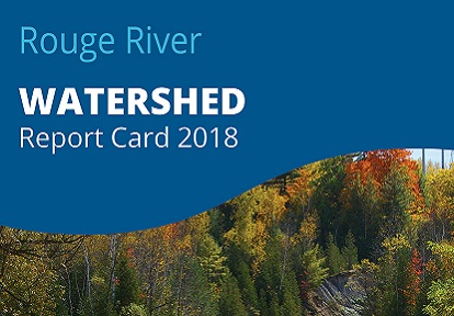 cover panel of 2018 Rouge River watershed report card