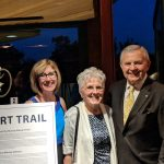 Murray Stewart family celebrate new trail at Rotary Club Event