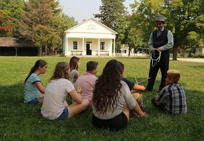 students on field trip at Black Creek Pioneer Village
