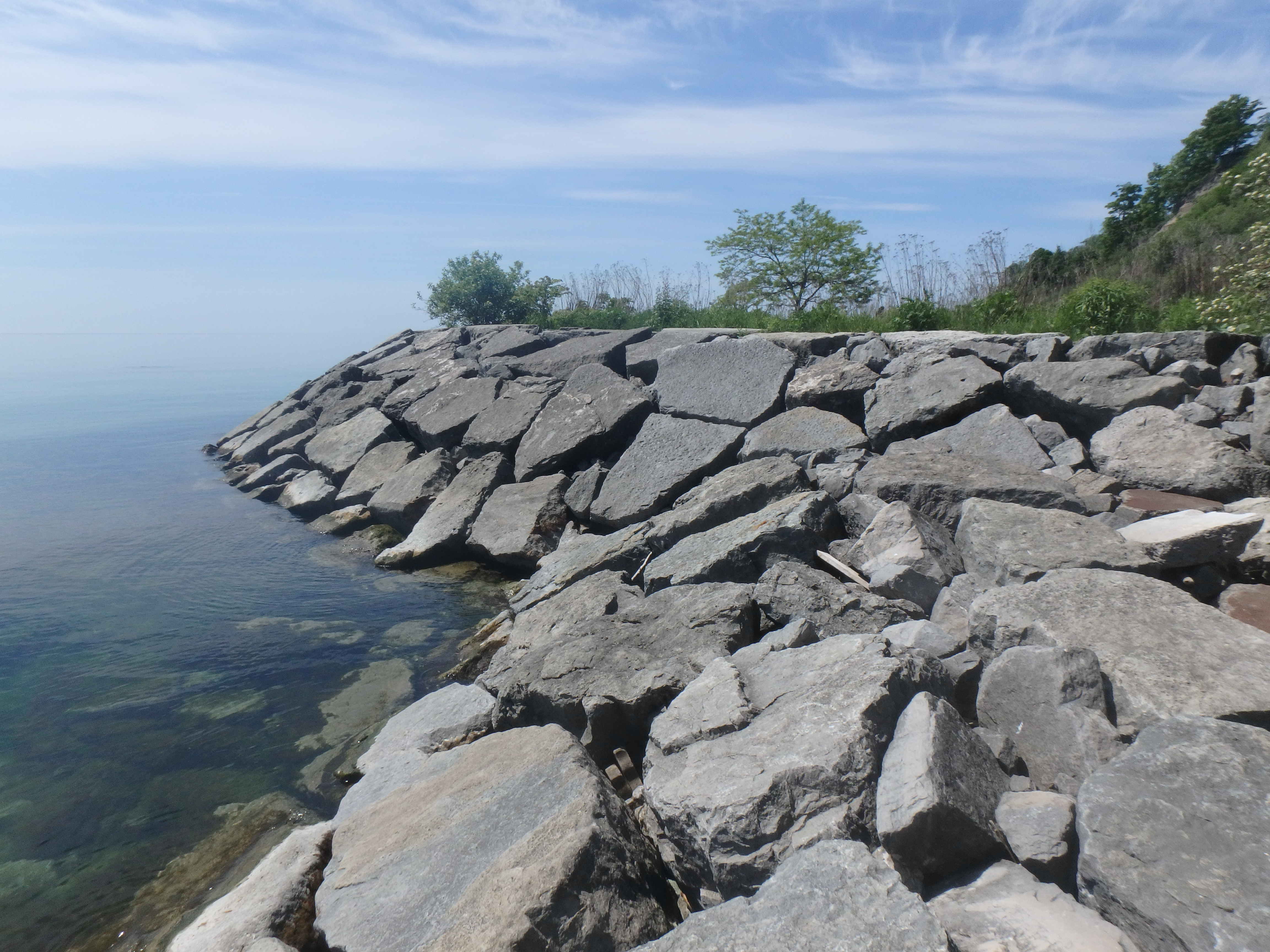 Example of an armourstone headland in good repair. Source: TRCA, 2018.