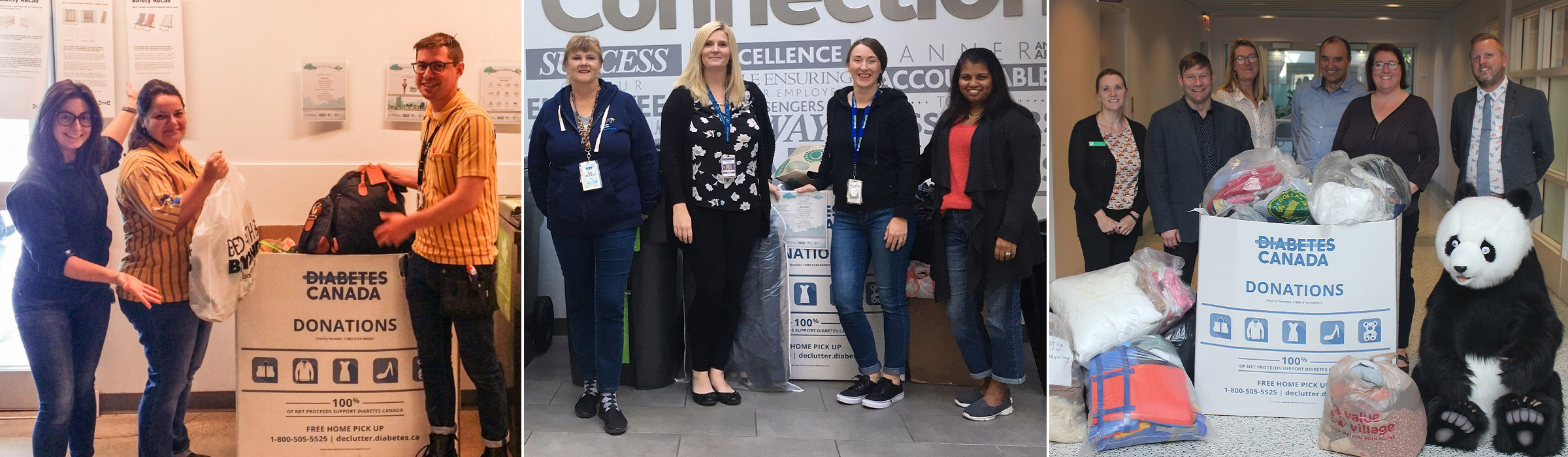 employees from GTA organizations participate in recycling collection drive