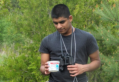 young man takes part in TRCA Newcomer Youth Green Economy project