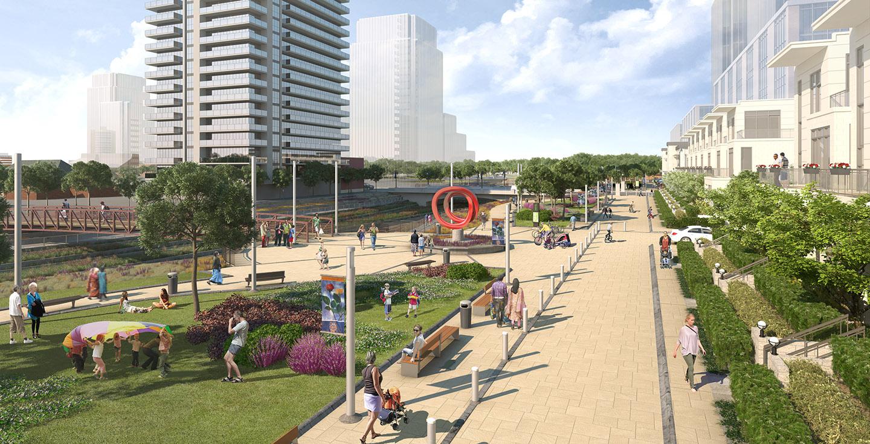 artist rendering of Brampton Riverwalk