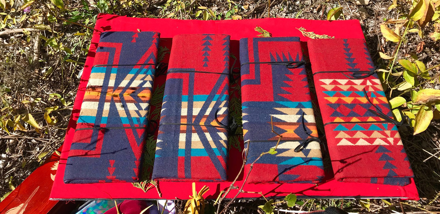 Traditional indigenous eagle feather cases