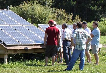 STEP solar energy workshop at Kortright Centre for Conservation