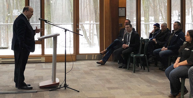 Hon. Michael Tibollo speaks at Kortright Centre