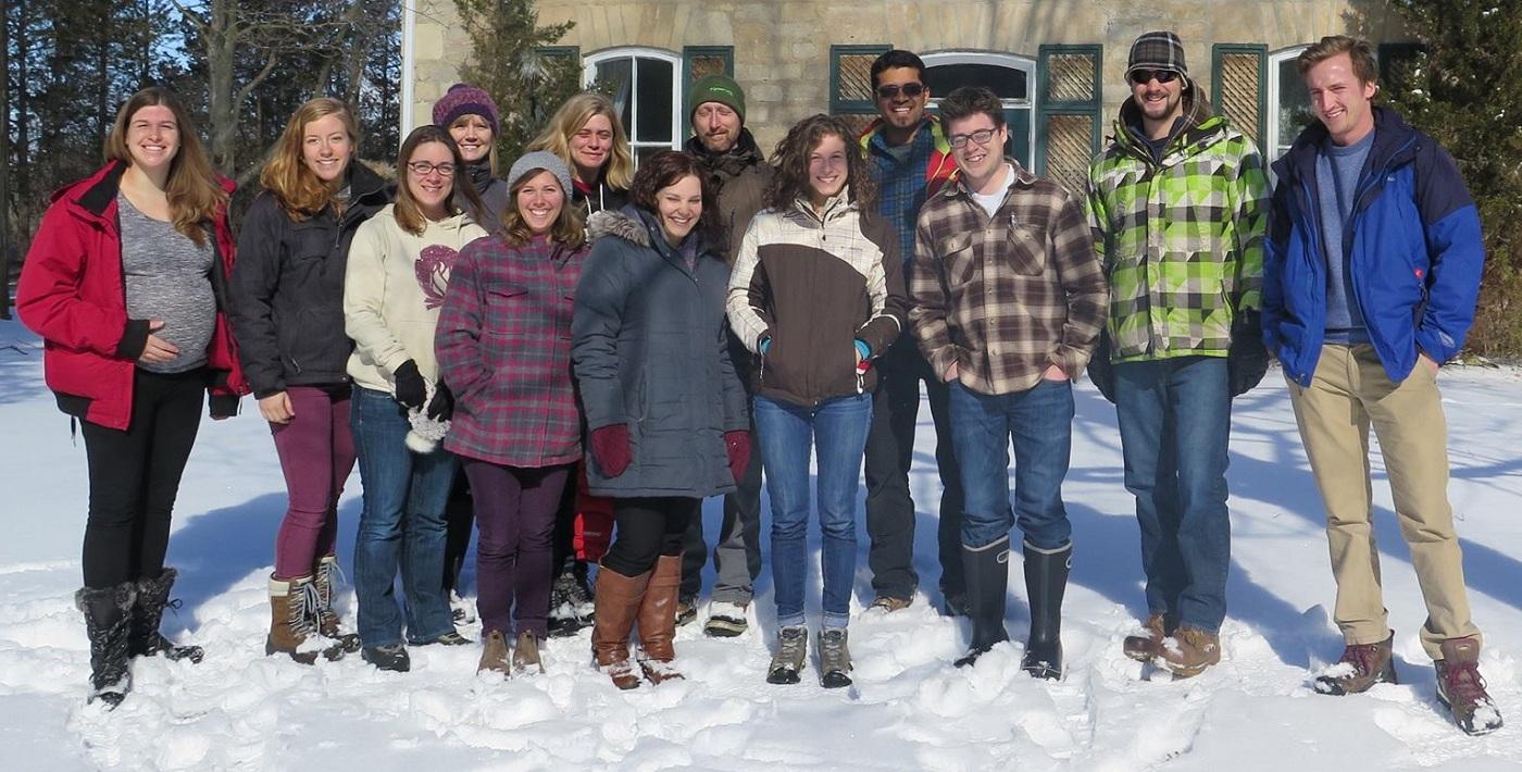 Young Conservation Professionals program participants at winter retreat