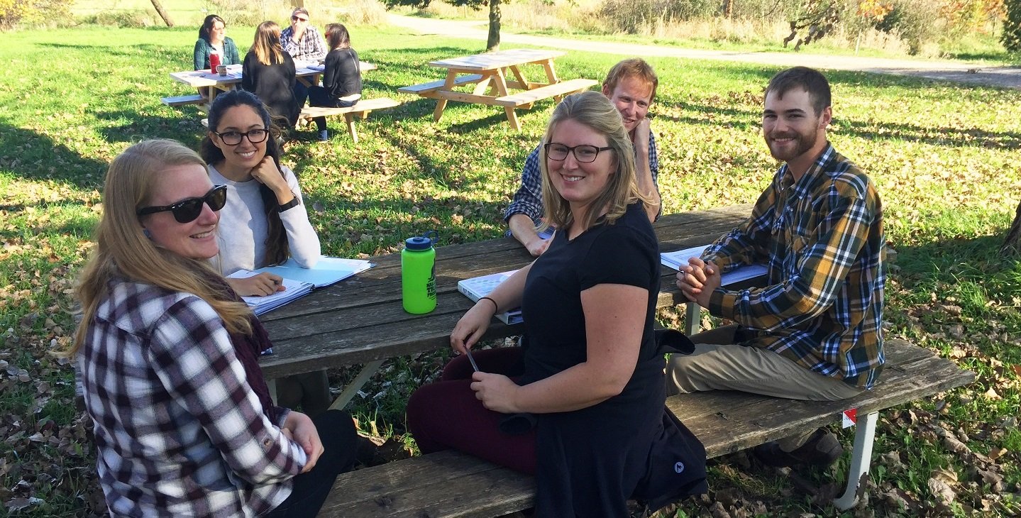 Young Conservation Professionals leadership program fall retreat at Albion Hills Field Centre