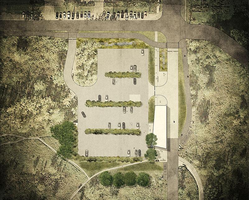 Parking lot design rendering