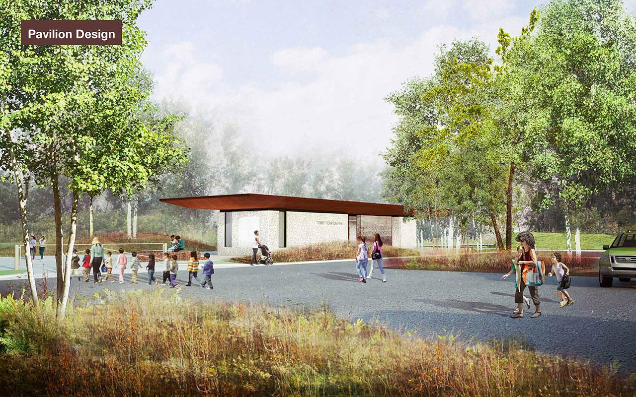 Pavilion design rendering