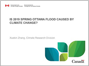 cover page of 2019 Ottawa spring flooding presentation